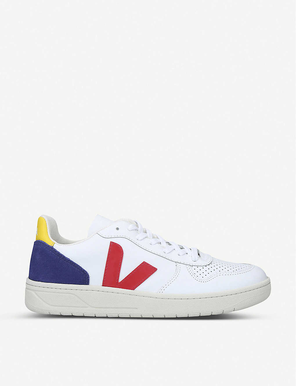 VEJA: V-10 leather and suede trainers