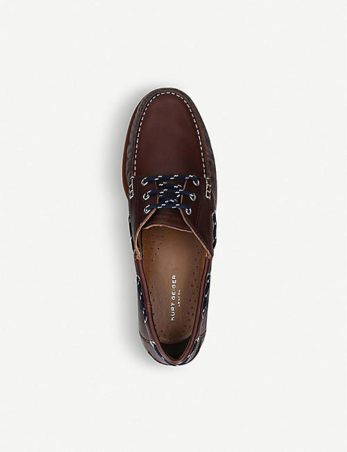 KURT GEIGER LONDON Brendan leather boat shoes