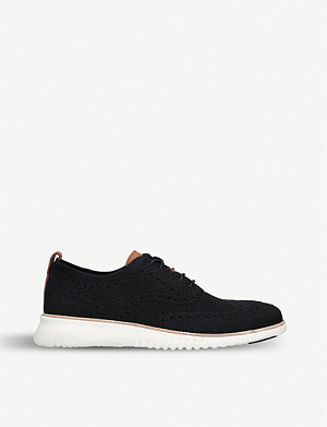 COLE HAAN 2.ZERØGRAND Stitchlite stretch-knit oxford shoes