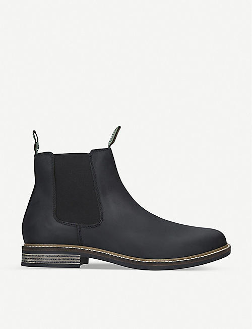 BARBOUR: Farsley Leather Chelsea boots