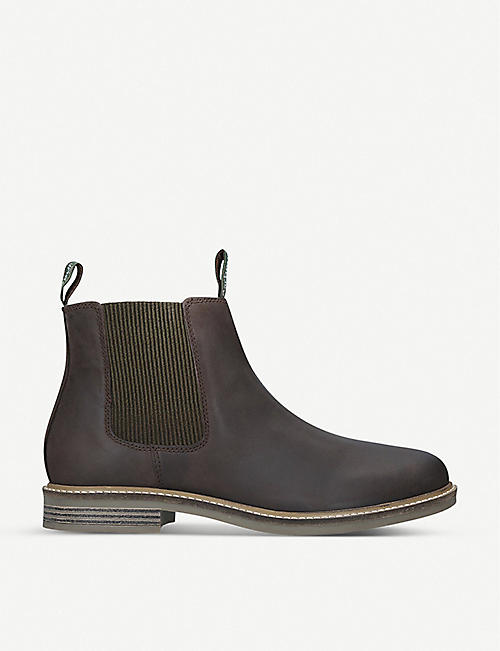 BARBOUR Farsley leather Chelsea boots