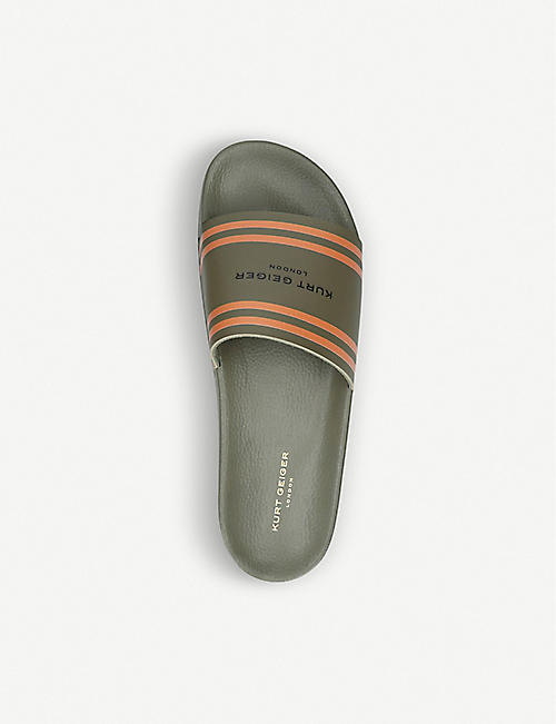 KURT GEIGER LONDON Waikato KGL contrast-stripe slides