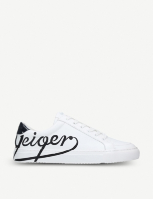 KURT GEIGER LONDON Southgate logo-print leather trainers