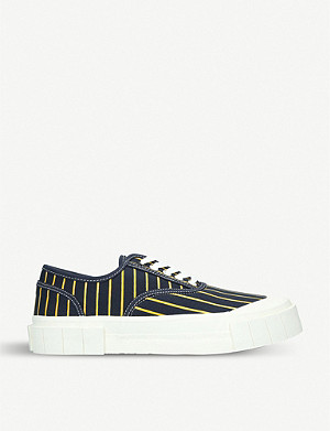 GOOD NEWS Hurler 2 low top pinstripe organic cotton trainers