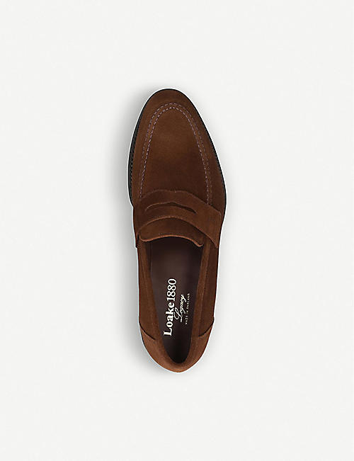 LOAKE Anson suede penny loafers