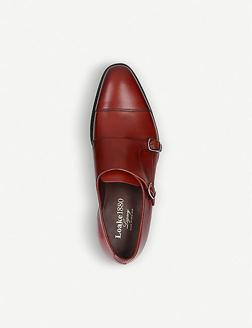 LOAKE Wensum double-monk strap leather shoes
