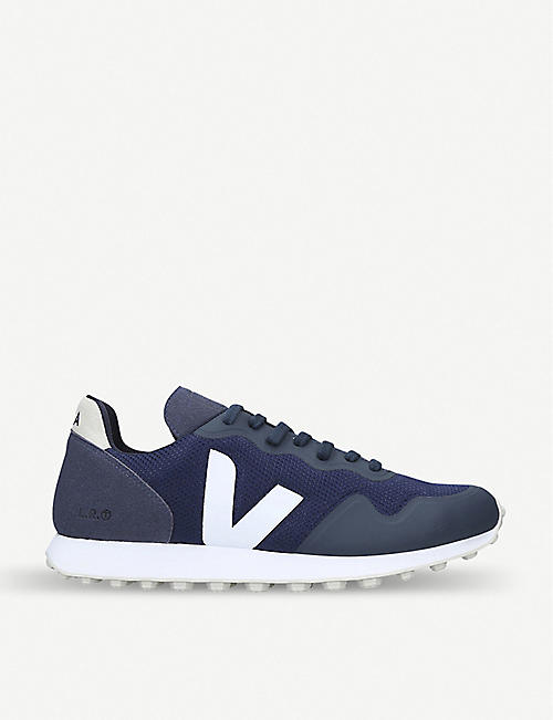 4fb8130c1f8d9c VEJA Contrast-panel suede and mesh trainers