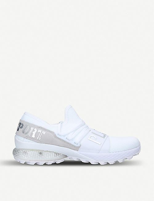 PHILIPP PLEIN SPORTS Runner knitted and suede trainers