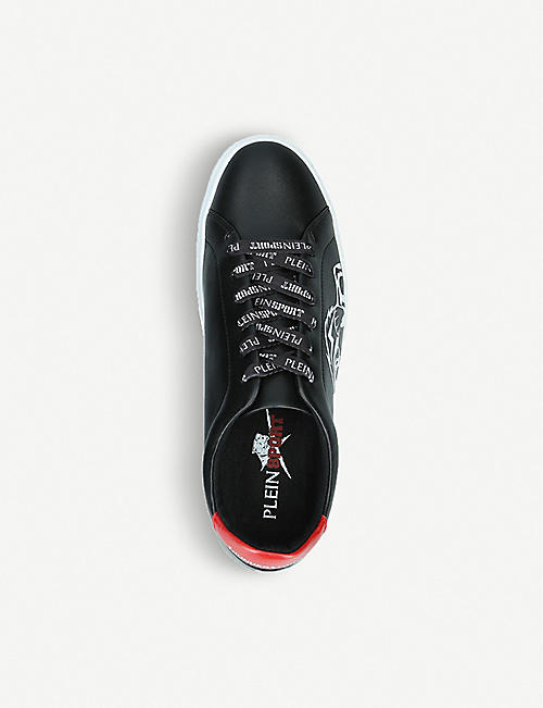 PHILIPP PLEIN SPORTS Chelsea graphic-print leather trainers