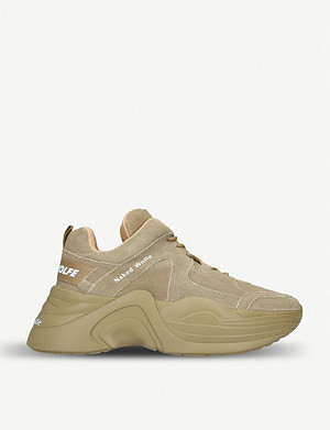 NAKED WOLFE Titan oversized suede trainers