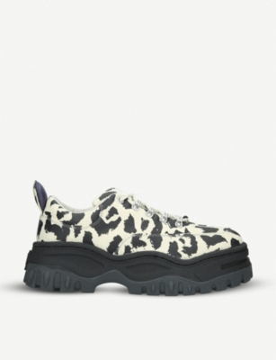 EYTYS Angel leopard-print canvas trainers