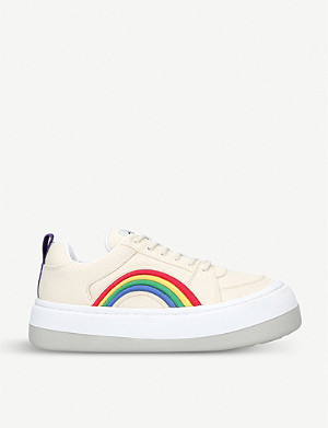EYTYS Sonic rainbow-appliqué low-top canvas trainers
