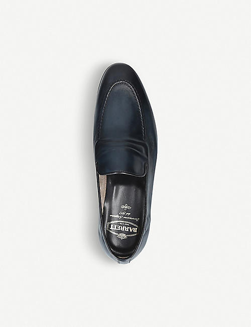 BARRETT Raised Piping leather loafers
