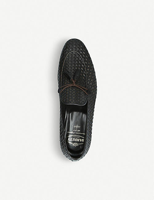 BARRETT Woven tassel leather loafers