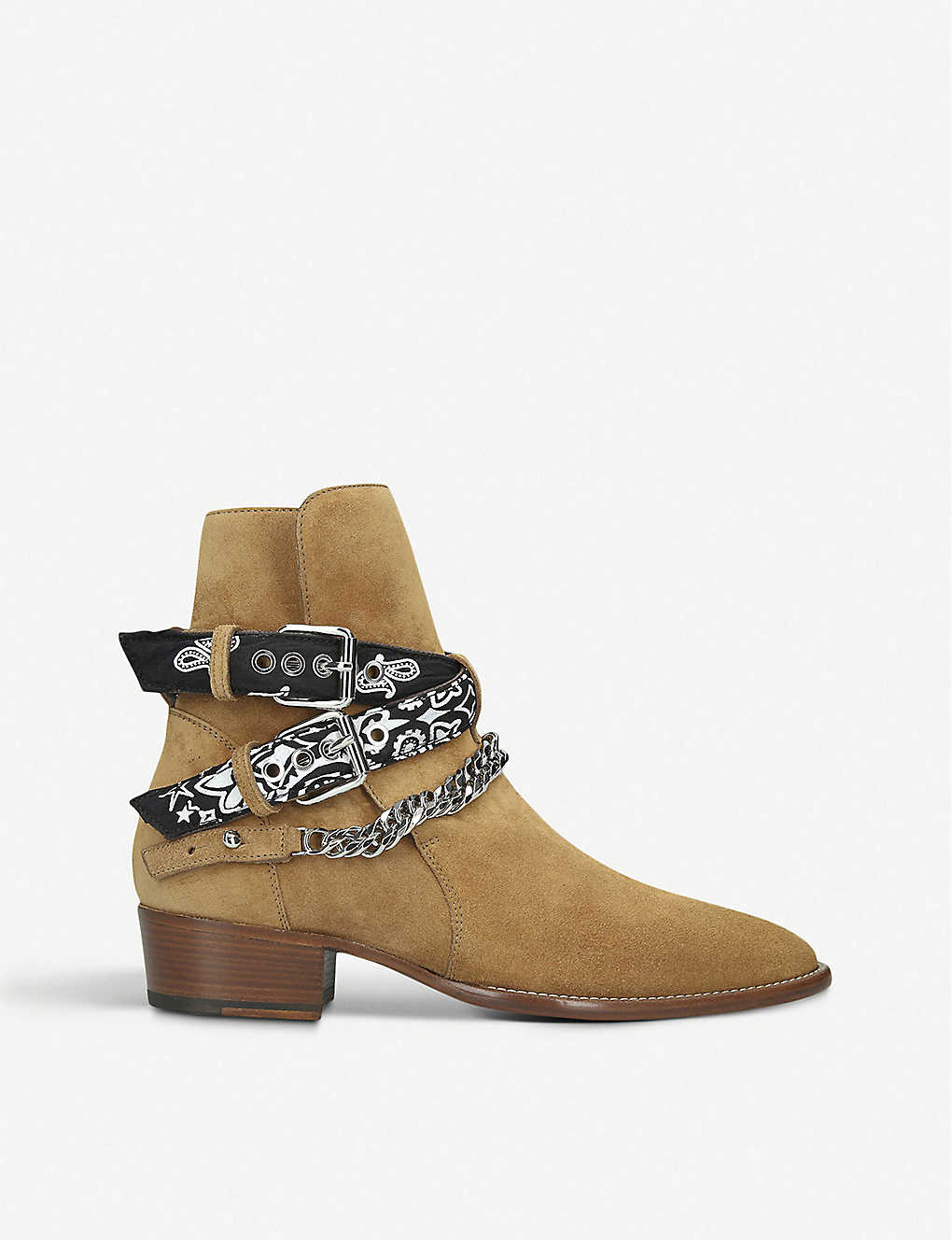 AMIRI: Bandana suede ankle boots