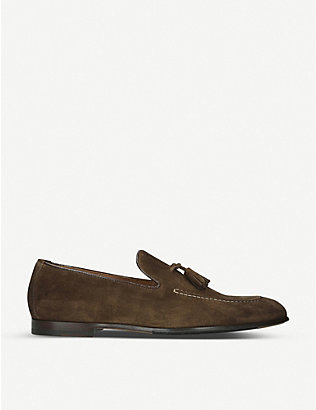 DOUCALS: Max flexi suede loafer