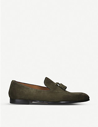 DOUCALS: Max Flexi suede loafers