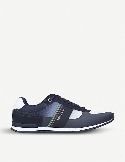 dd54fe97bad7 PAUL SMITH Ericson Runner mesh and suede trainers