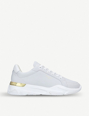 MALLET Lurus leather and suede trainers