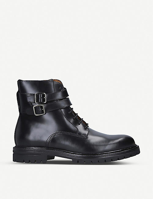 KURT GEIGER LONDON Cade leather biker boots