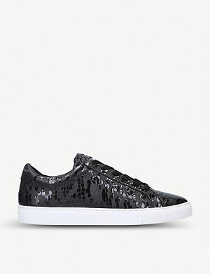 KURT GEIGER LONDON Donnie scale-effect leather trainers