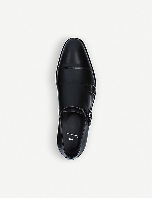 PAUL SMITH Frank leather double monk shoes