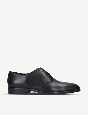 PAUL SMITH Guy hole punch leather oxford shoes