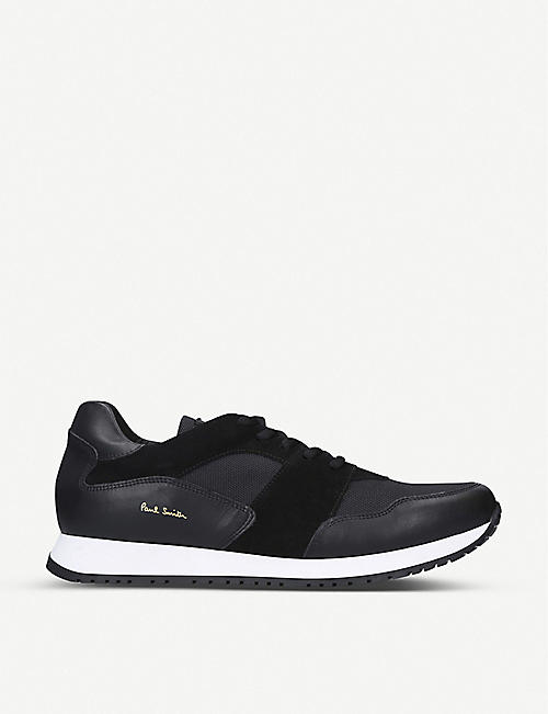 PAUL SMITH Pioneer leather and mesh trainers
