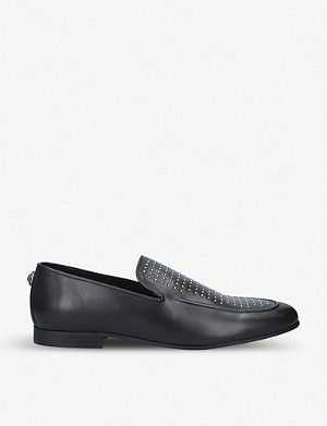 KURT GEIGER LONDON Palermo studded leather loafers