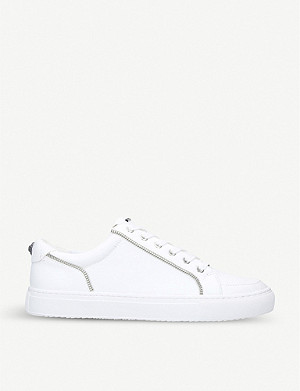 KURT GEIGER LONDON Southgate zip trim leather trainers