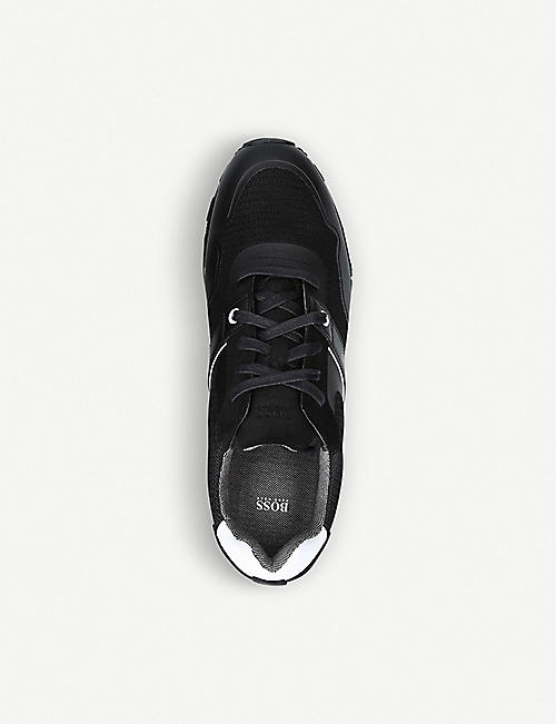 BOSS BY HUGO BOSS Parkour mixed leather and nylon trainers
