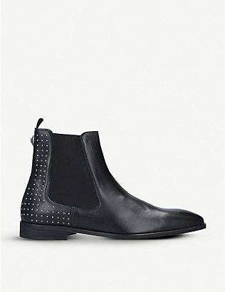 KURT GEIGER LONDON: Freddie studded leather Chelsea boots
