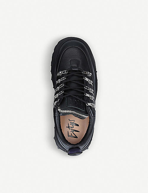 EYTYS Angel Stash zip-detail leather trainers