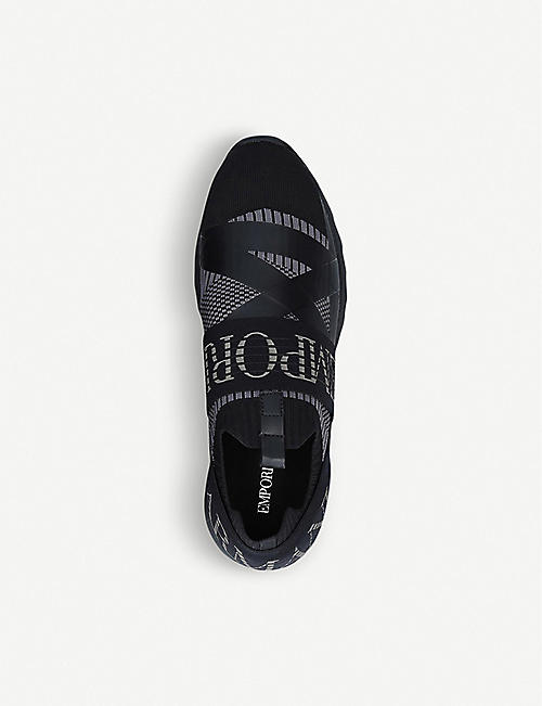 ARMANI Arco knitted trainers