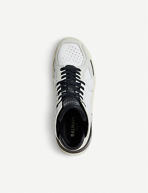 BALMAIN B Ball leather trainers