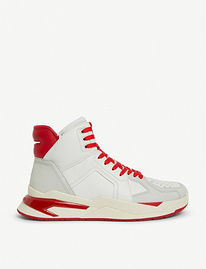BALMAIN Exclusive B Ball leather trainers