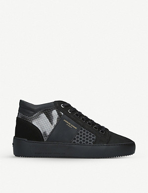 ANDRIOD Mid Propulsion shell, suede and mesh trainers