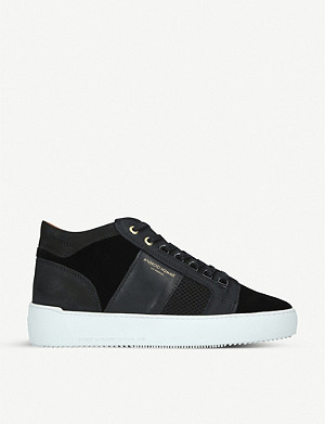 ANDRIOD Mid Propulsion velvet and mesh trainers