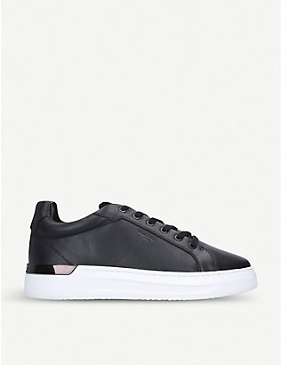 MALLET: Grafton leather trainers