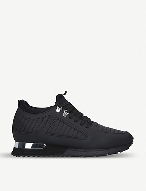 MALLET Quilted Diver black trainers
