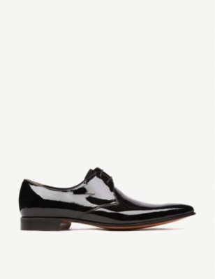 BARKER Goldington patent Derby shoes