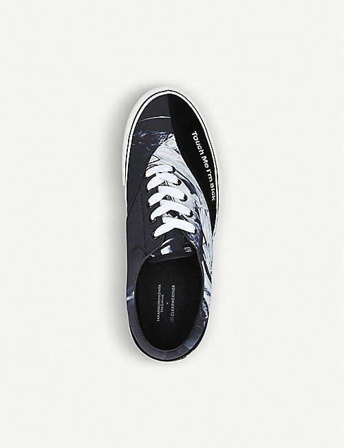 THE SOLOIST Cobain low-top canvas trainers