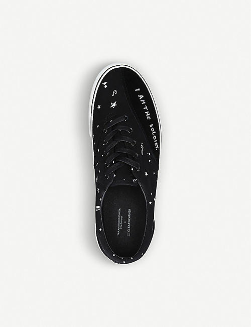 THE SOLOIST Oscar embroidered low-top trainers