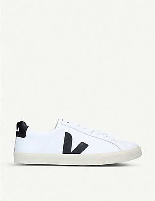VEJA: ESPLAR branded leather trainers