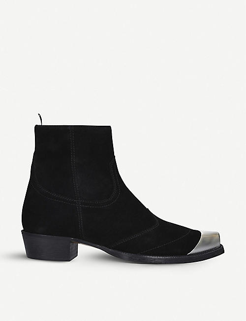 REPRESENT CLOTHING Suede western boots
