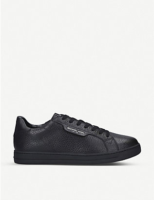 MICHAEL MICHAEL KORS: Keating pebbled leather trainers