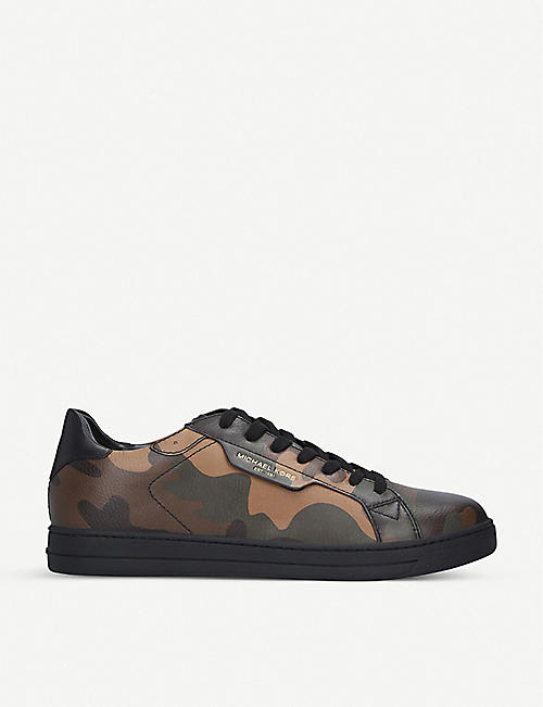 MICHAEL MICHAEL KORS Keating camouflage-print leather trainers