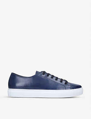 PAUL SMITH Sotto leather tennis trainers