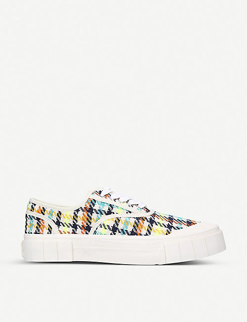 GOOD NEWS: Ace checked organic cotton trainers