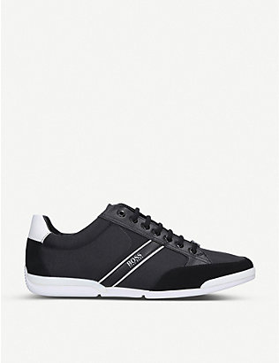 BOSS: Saturn Pro low-top leather trainers